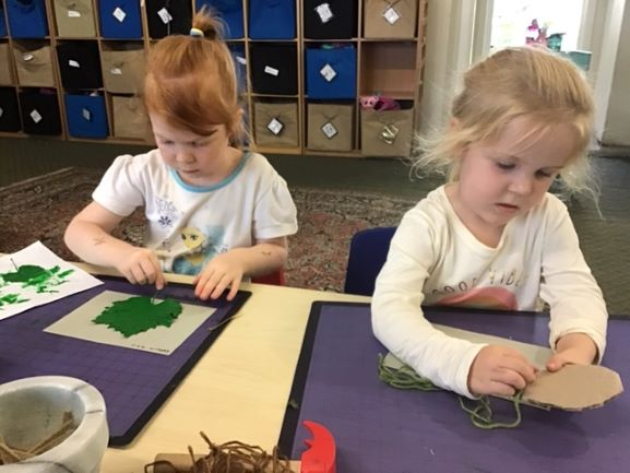 Busy Girls at Preschool
