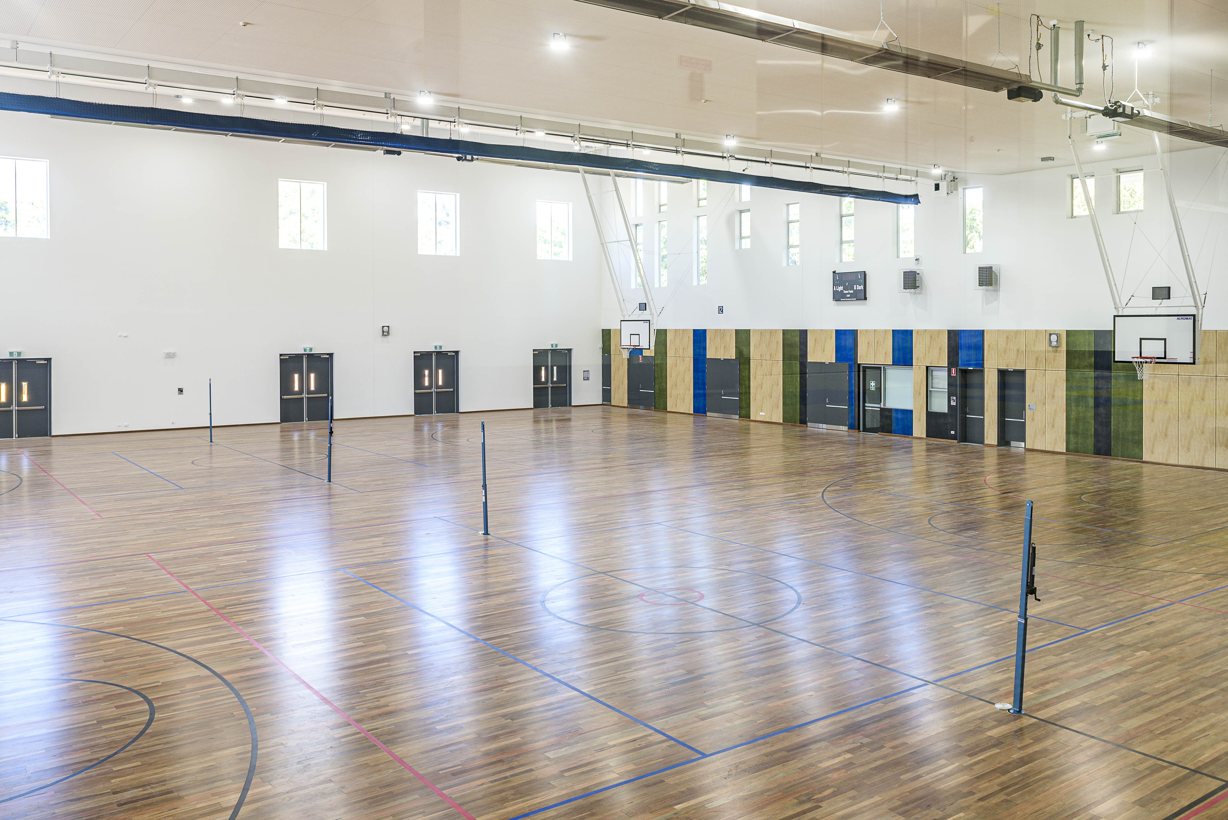 The new indoor courts at the new St Ives High Sports Centre