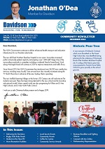 Jonathan O'Dea MP Davidson Community Newsletter Dec 2018