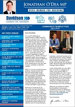 Jonathan O'Dea MP Davidson Community Newsletter Dec 2017