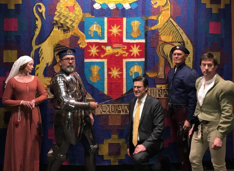 Jonathan O'Dea becomes a 'Knight'