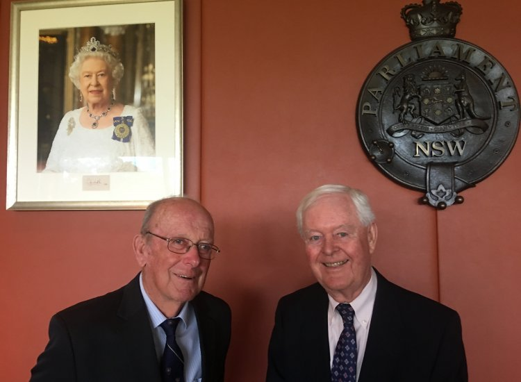 NSW Parliament Ceremony Celebrating 50 Years of Service for Davidson Electorate JPs, Noel Brown and John Randall